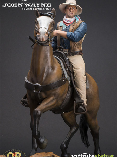 Infinite Statue Old&Rare John Wayne On Horse 1:6 Statue