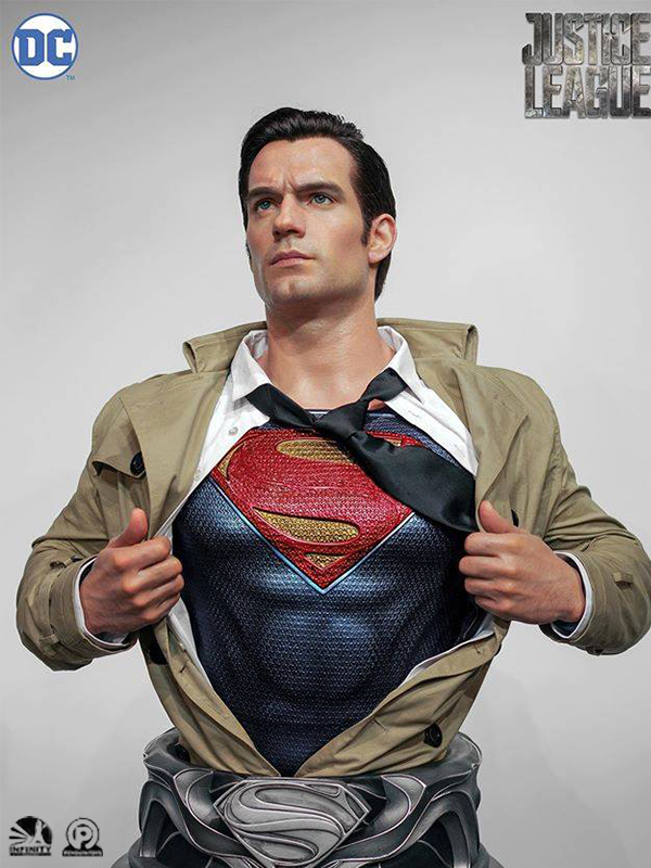 Infinity Studio DC Justice League Superman Henry Cavill Lifesize 1:1 Bust