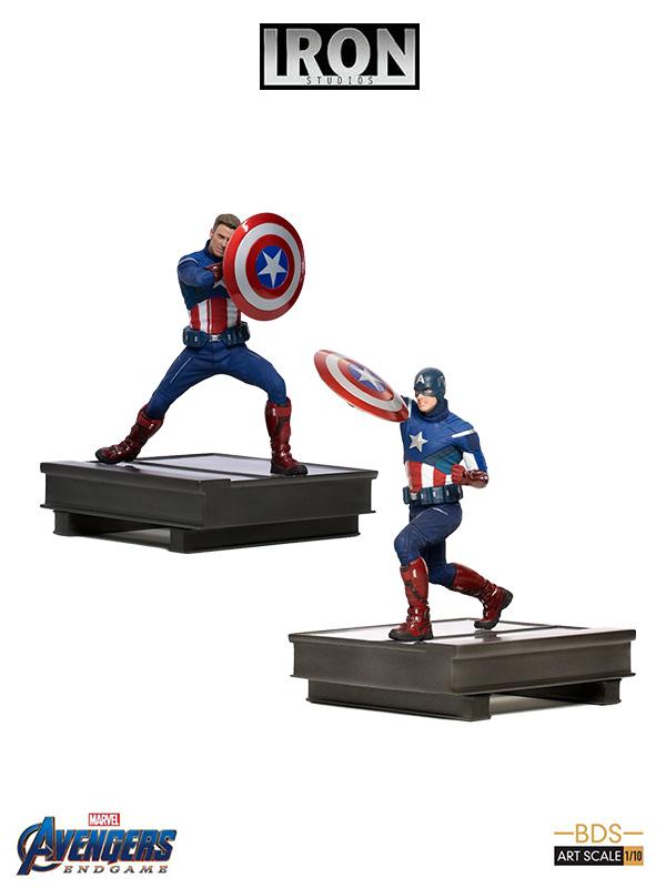 Iron Studios Marvel Avengers Endgame Captain America 2023 Vc Captain America 2012 1:10 Statue