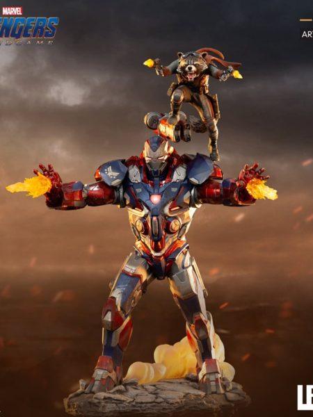 Iron Studios Marvel Avengers Endgame Iron Patriot & Rocket 1:10 Statue