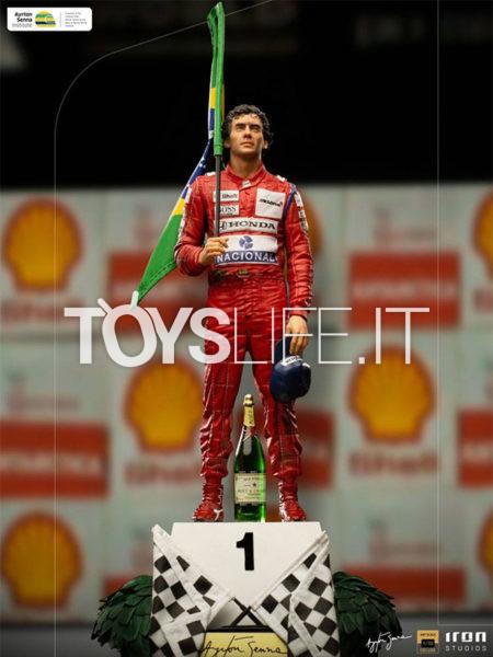 Iron Studios Ayrton Senna GP Brazil 1991 1:10 Statue