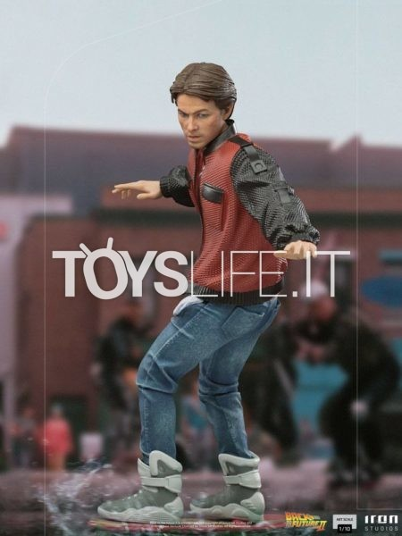 Iron Studios Back to the Future 2 Marty McFly on Hoverboard 1:10 Statue