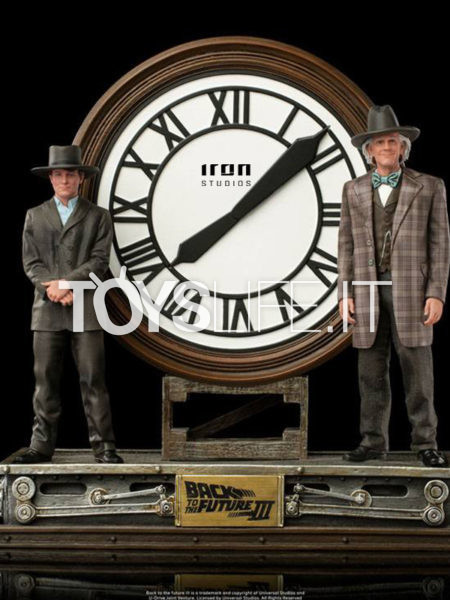 Iron Studios Back to the Future 3 Marty And Doc At The Clock 1:10 Deluxe Statue