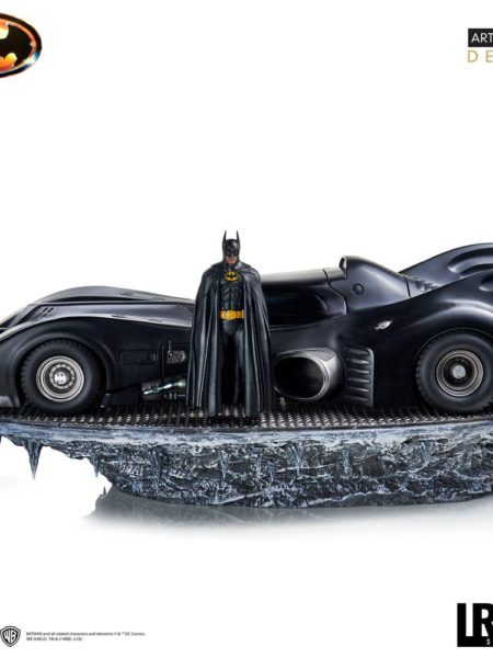 Iron Studios Batman 1989 Batman & Batmobile Deluxe 1:10 Statue 75 Cm