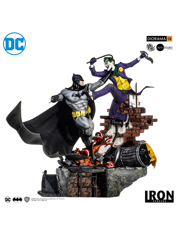 DC Comics: Batman vs Joker 1:6 Scale Battle Diorama