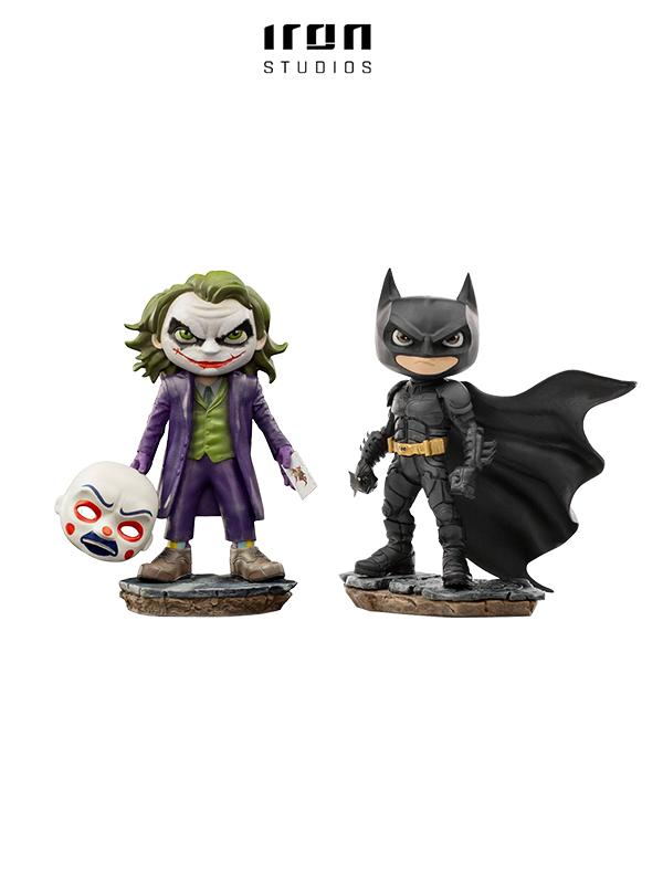 Iron Studios DC Batman The Dark Knight Batman/ Joker Mini Co Pvc Figure