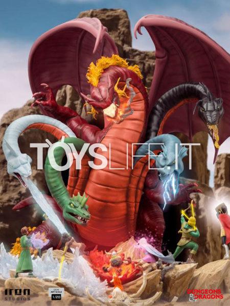 Iron Studios Dungeons & Dragons Tiamat Battle 1:20 Demi Scale Statue