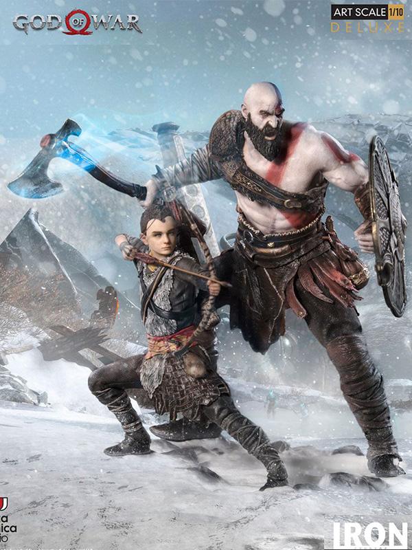 Iron Studios God of War Kratos & Atreus Deluxe 1:10 Statue