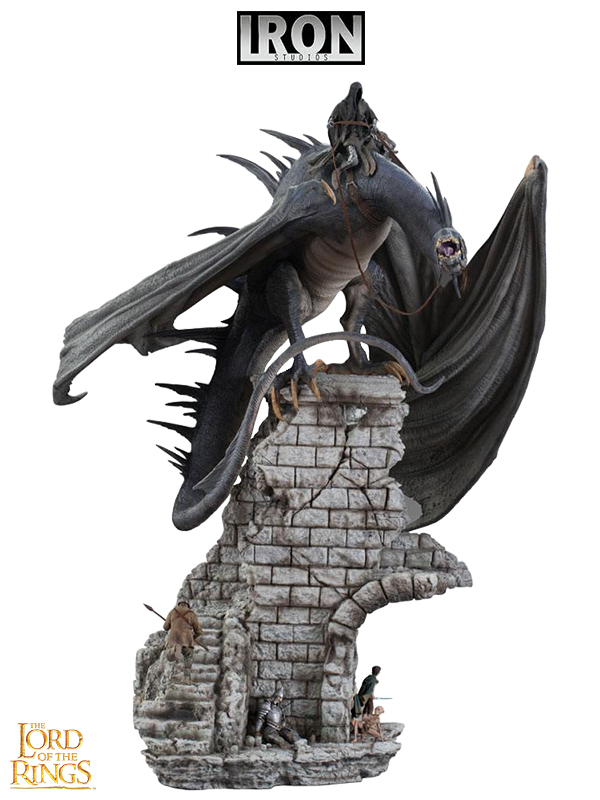 Iron Studios Lord Of The Rings Nazgul On Fell Beast Demi Art 1/20 Statue 70 cm