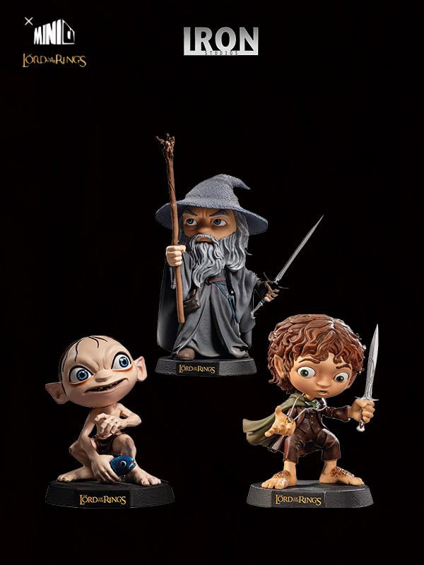Iron Studios The Lord of the Rings Gandalf/Frodo/Gollum Minico Pvc Statue