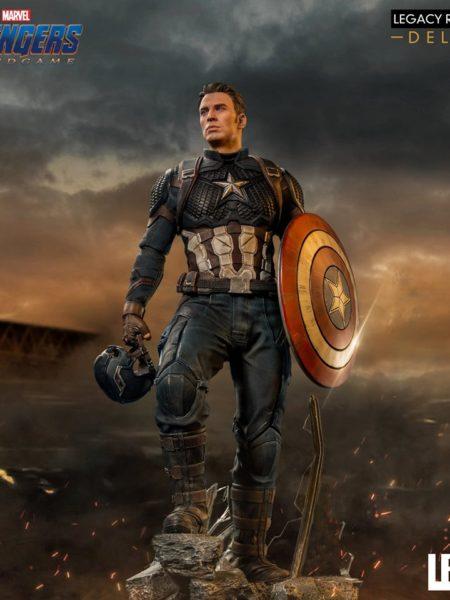 Iron Studios Marvel Avengers Endgame Captain America Deluxe 1:4 Scale Statue