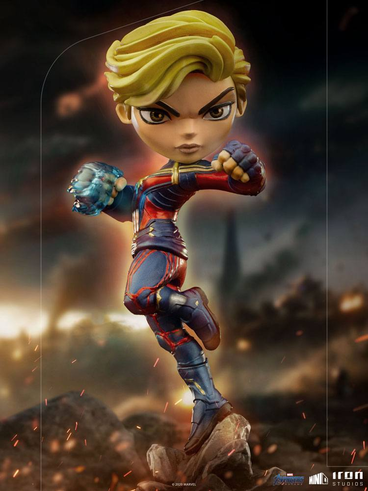 Iron Studios Marvel Avengers Endgame Mini Co. Captain Marvel Pvc Figure