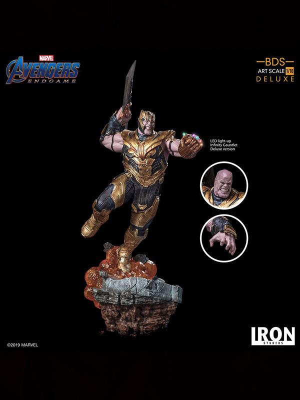 Iron Studios Marvel Avengers Endgame Thanos Deluxe 1:10 Statue