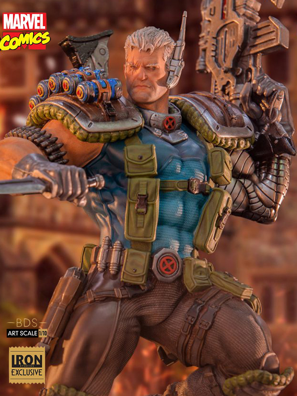 Iron Studios Marvel Comics X-Men Cable 1:10 Exclusive Statue
