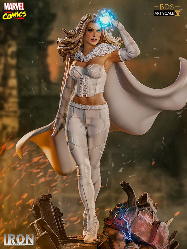 Iron Studios Marvel Comics X-Men Emma Frost White Queen 1:10 Statue