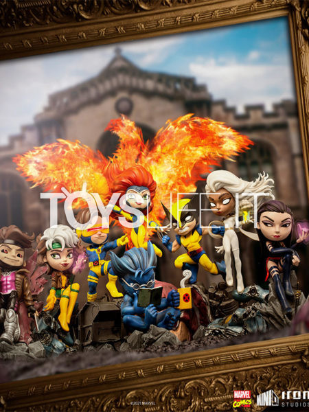 Iron Studios Marvel Comics X-Men Wolverine/ Beast/ Jean Grey/ Cyclops/ Gambit/ Storm/ Psylocke/ Rogue MiniCo Pvc Figure