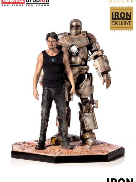 Iron Studios Marvel Tony Stark And Mark I Fair Exclusive 1:10 Statue