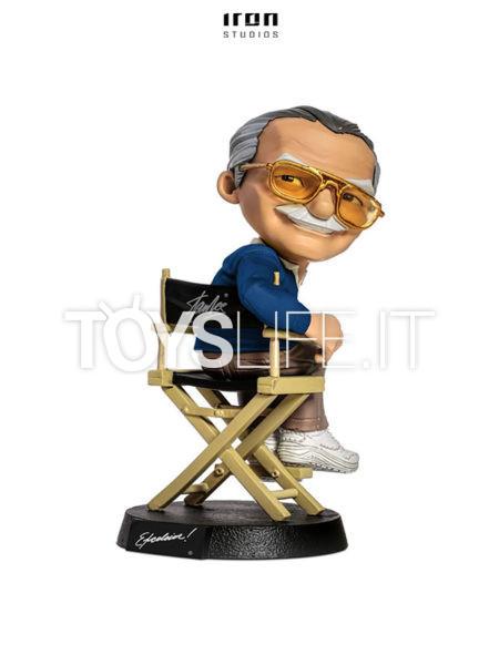 Iron Studios Marvel Comics Stan Lee Blue Shirt Mini Co Pvc Figure