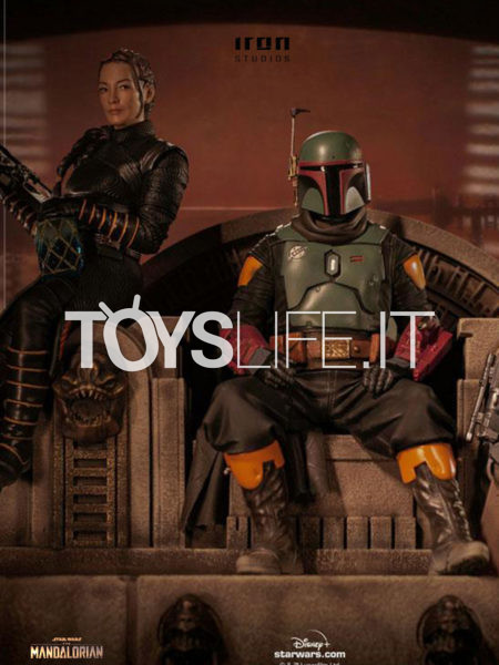 Iron Studios Star Wars The Mandalorian Boba Fett And Fennec Shand 1:10 Deluxe Statue