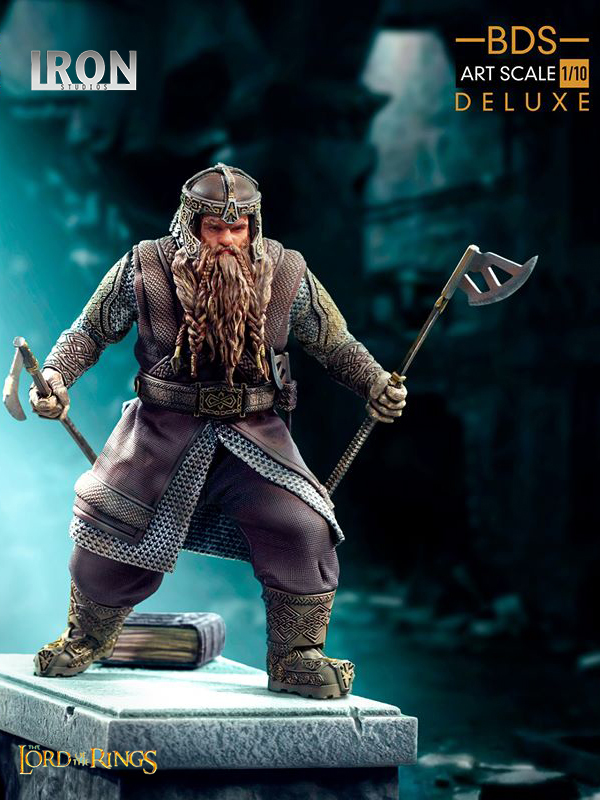 Iron Studios The Lord Of The Rings Gimli Deluxe 1:10 Statue