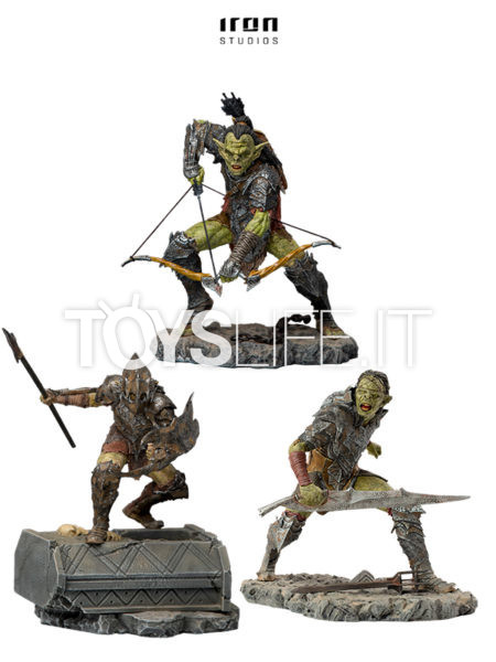 Iron Studios The Lord Of The Rings Archer/ Swordsman/ Armored Orc 1:10 Statue