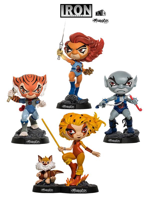 Iron Studios Thundercats Mini Co Lion-O/ Tygra/ Cheetara&Snarf/ Panthro Pvc Statue