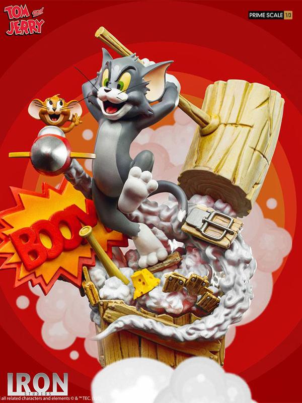 Iron Studios Tom & Jerry Tom & Jerry 1:3 Prime Scale Statue