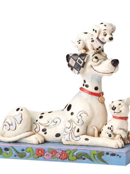 Jim Shore Disney Traditions 101 Dalmatians Pongo with Penny & Rolly 55th Anniversary