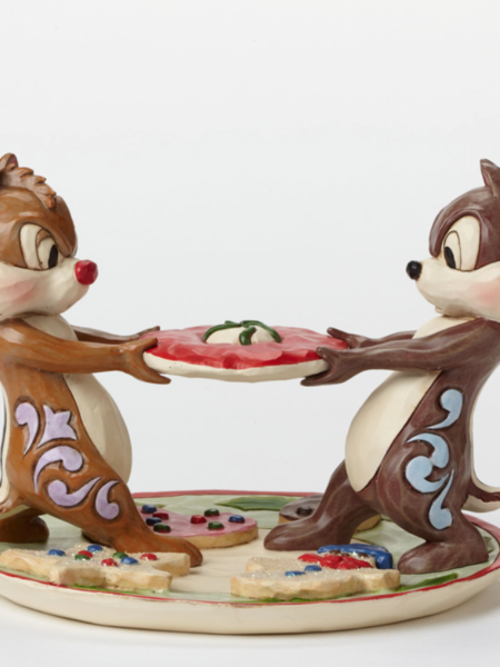 Jim Shore Disney Traditions Chip & Dale Save Some For Santa
