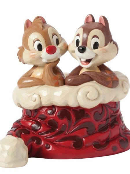Jim Shore Disney Traditions Chip & Dale Christmas Holly Jolly