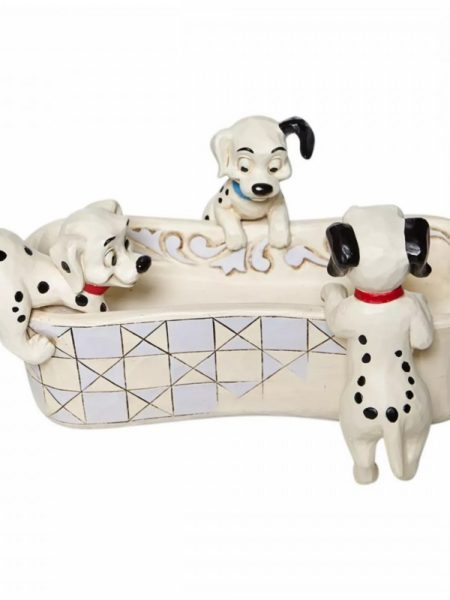Jim Shore Disney Traditions 101 Dalmatians Puppy Bowl