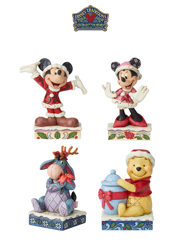 Jim Shore Disney Traditions 2019 Christmas Mickey/Minnie/Eeyore/Winnie The Pooh