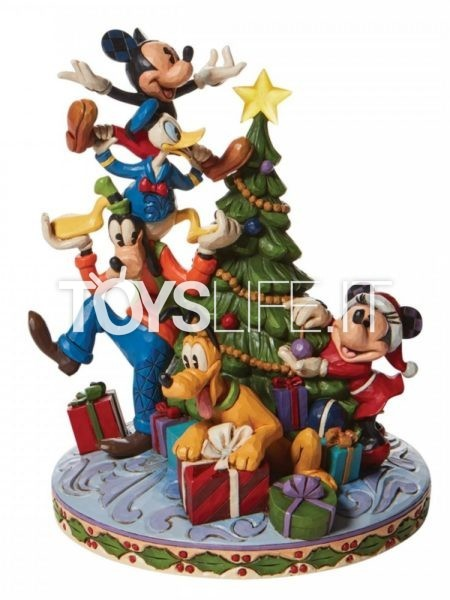 Jim Shore Disney Traditions Fab Five Decorating Christmas Tree