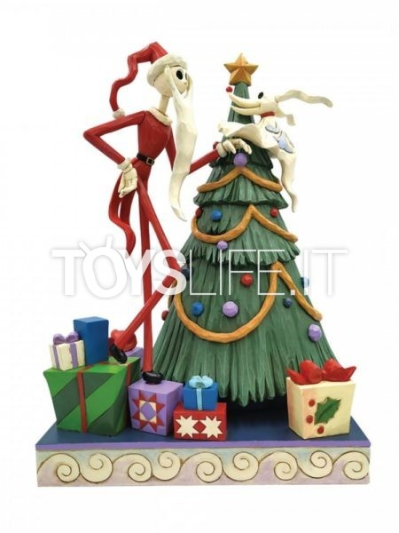 Jim Shore Disney Traditions Nightmare Before Christmas Santa Jack And Zero By Tree