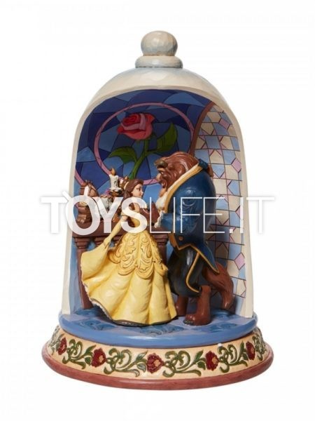 Jim Shore Disney Traditions The Beauty And The Beast Rose Dome 30th Anniversary