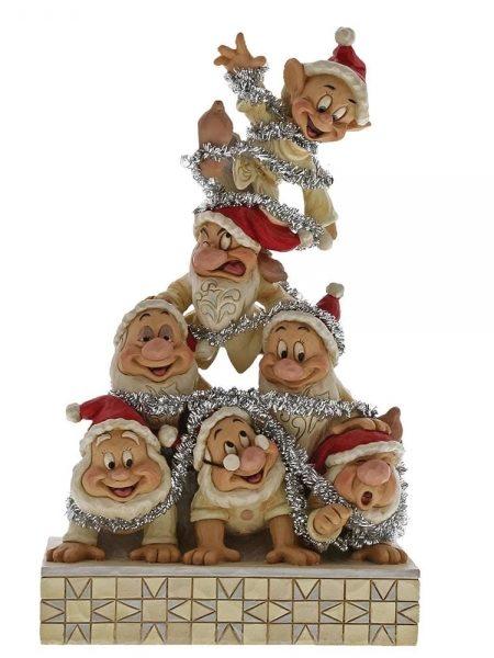 Jim Shore Disney Traditions Seven Dwarfs Christmas Pyramid