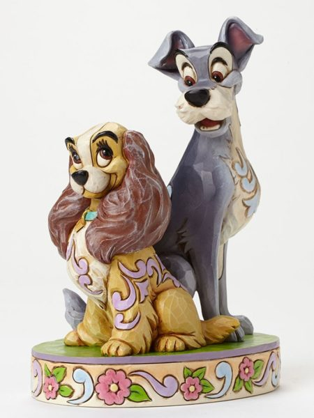 Jim Shore Disney Traditions Lady And The Tramp 60th Anniversary