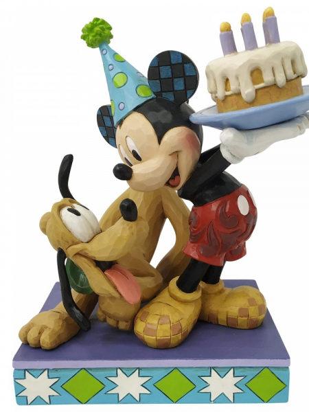 Jim Shore Disney Traditions Mickey & Pluto Birthday