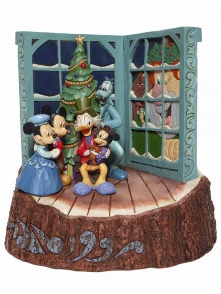 Jim Shore Disney Traditions Mickey Mouse Christmas Carol Carved By Hearts