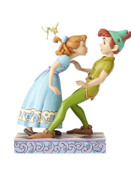 Jim Shore Disney Traditions Peter Pan & Wendy An Unespected Kiss 65th Anniversary