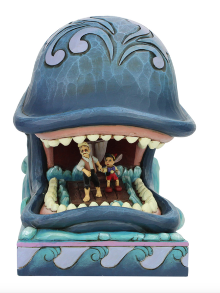 Jim Shore Disney Traditions Pinocchio Monstro With Geppetto And Pinocchio