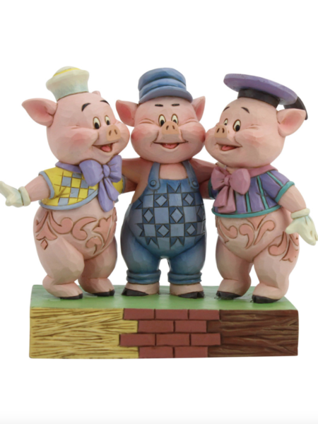 Jim Shore Disney Traditions Silly Symphony Three Little Pigs