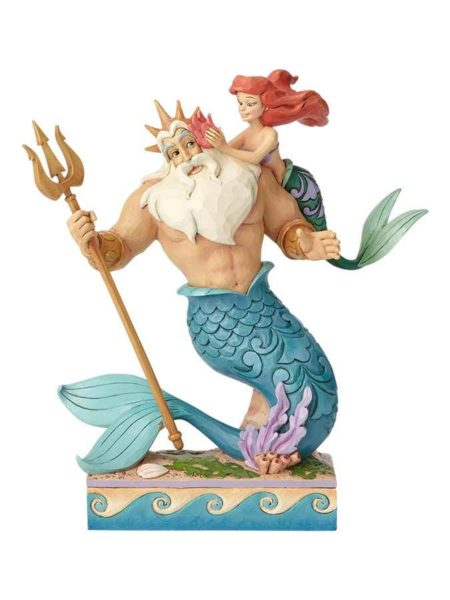 Jim Shore Disney Traditions The Little Mermaid King Triton & Ariel