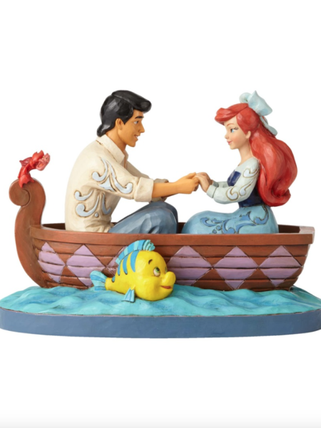 Jim Shore Disney Traditions The Little Mermaid Ariel & Prince Eric On Boat
