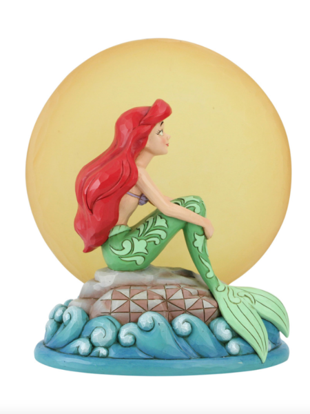 Jim Shore Disney Traditions The Little Mermaid Ariel With Light Up Moon