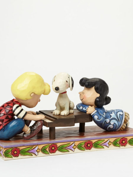 Jim Shore Peanuts Schroeder with Lucy & Snoopy
