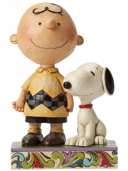 Jim Shore Peanuts Snoopy & Charlie Brown