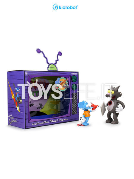 Kidrobot The Simpsons Itchy and Scratchy Medium Figure
