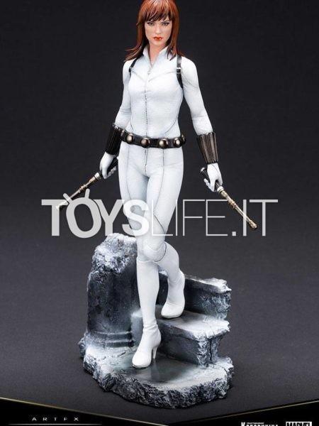 Kotobukiya Marvel Black Widow White Costume Limited Artfx Premier 1:10 Pvc Statue