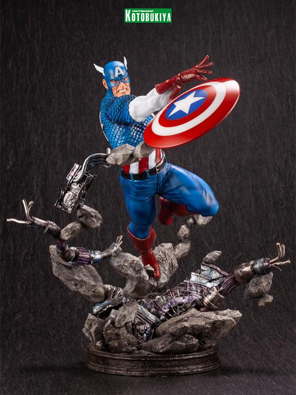 kotobukiya Marvel Comics Captain America 1:6 Fine Art Statue